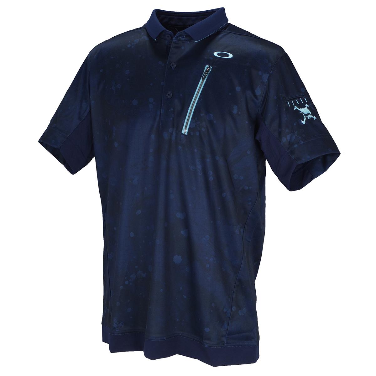 スカル Liquid 半袖ポロシャツ
