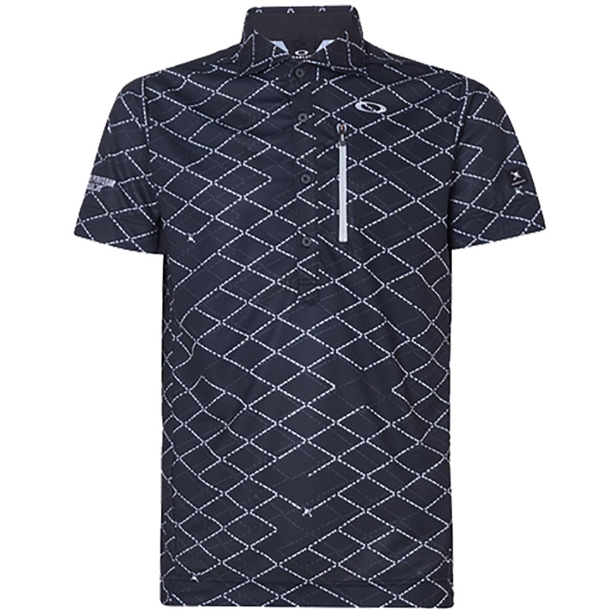 スカル Displace Grid 半袖ポロシャツ