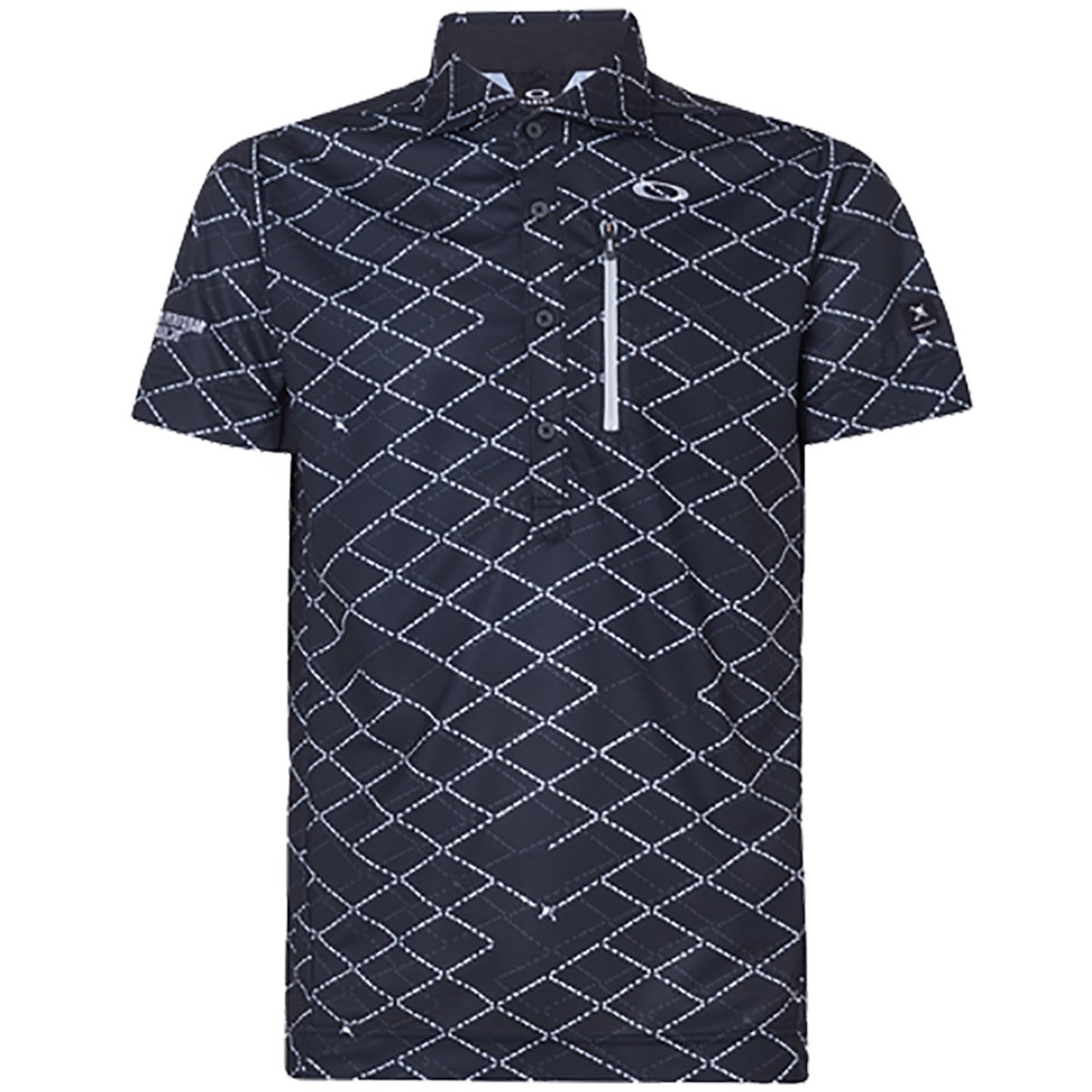 オークリー(OAKLEY) スカル Displace Grid 半袖ポロシャツ