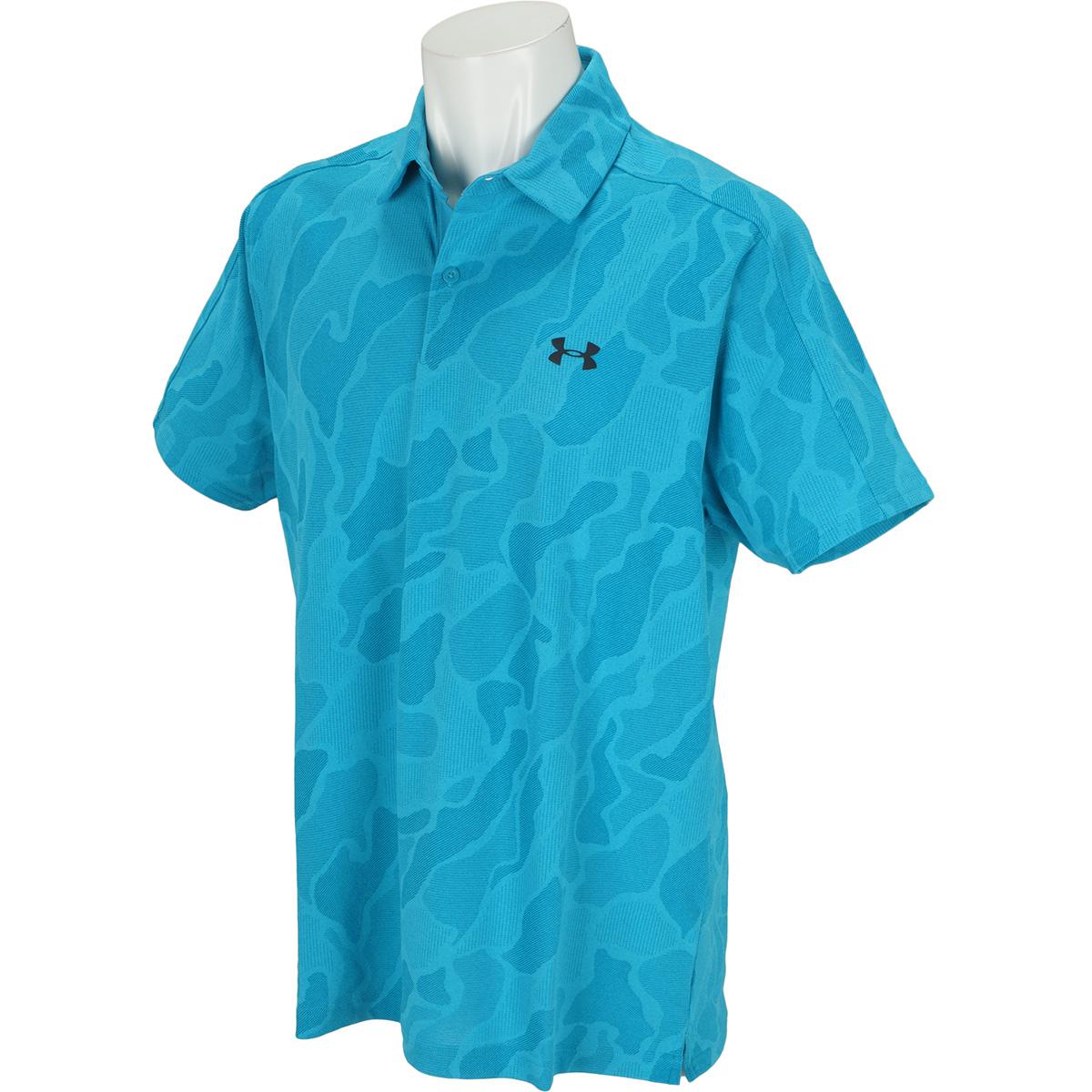UA ヴァニッシュジャカード半袖ポロシャツ