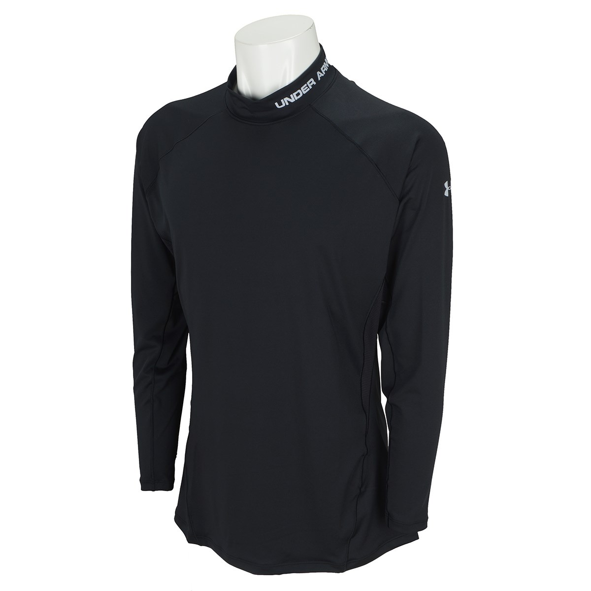 アンダーアーマー Under Armour UA HG フィット長袖モックシャツ LG Black/Mod Gray