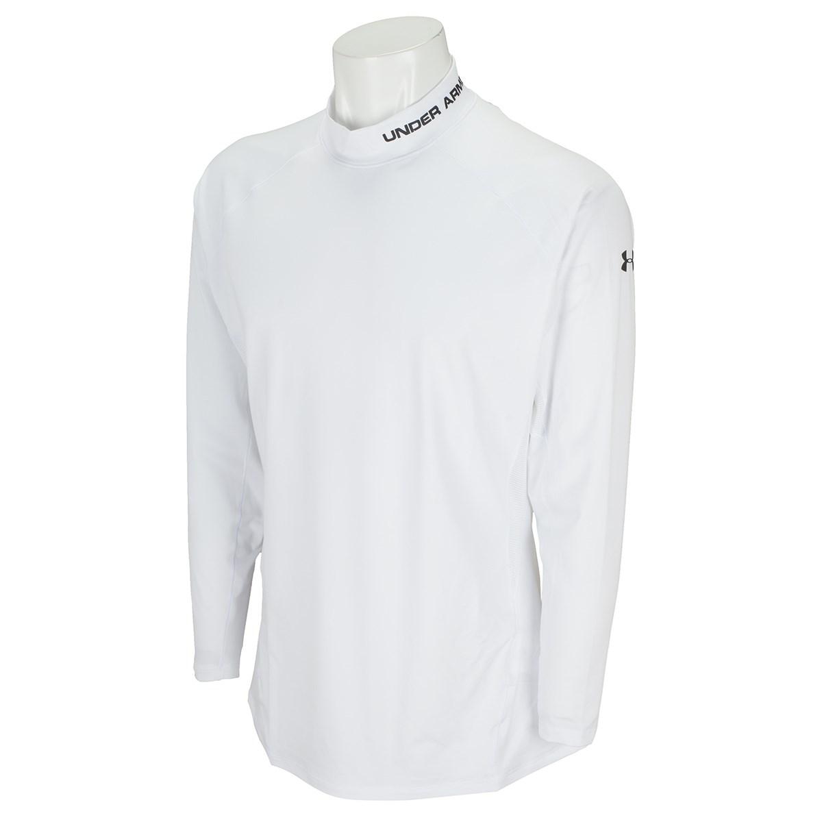 アンダーアーマー Under Armour UA HG フィット長袖モックシャツ MD White/Black