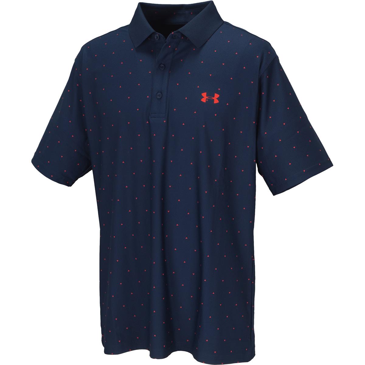 UA プレイオフ ピケ オールオーバープリント半袖ポロシャツ