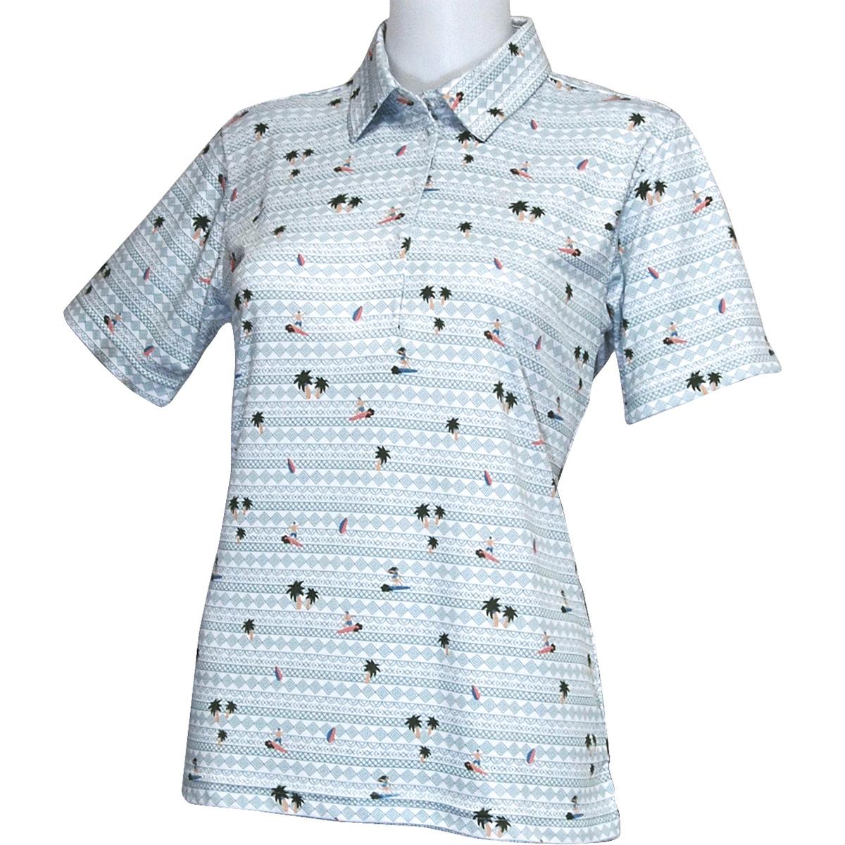 半袖台襟ポロシャツレディス