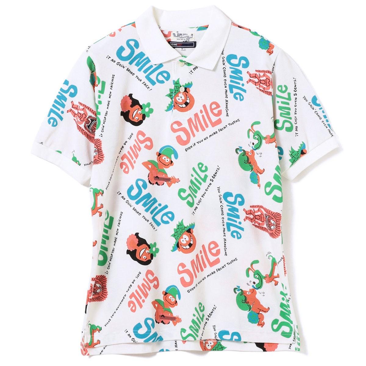 ビームスゴルフ SUN SURF×BEAMS GOLF Smile ALOHA ポロシャツ