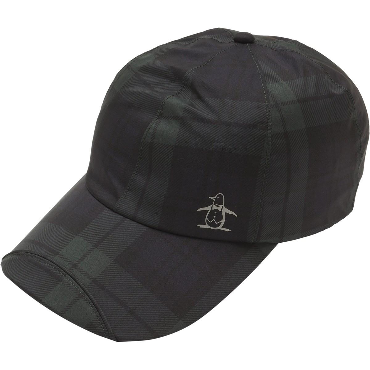 マンシングウェア Munsingwear レインキャップ フリー ブラック/グリーン レディス