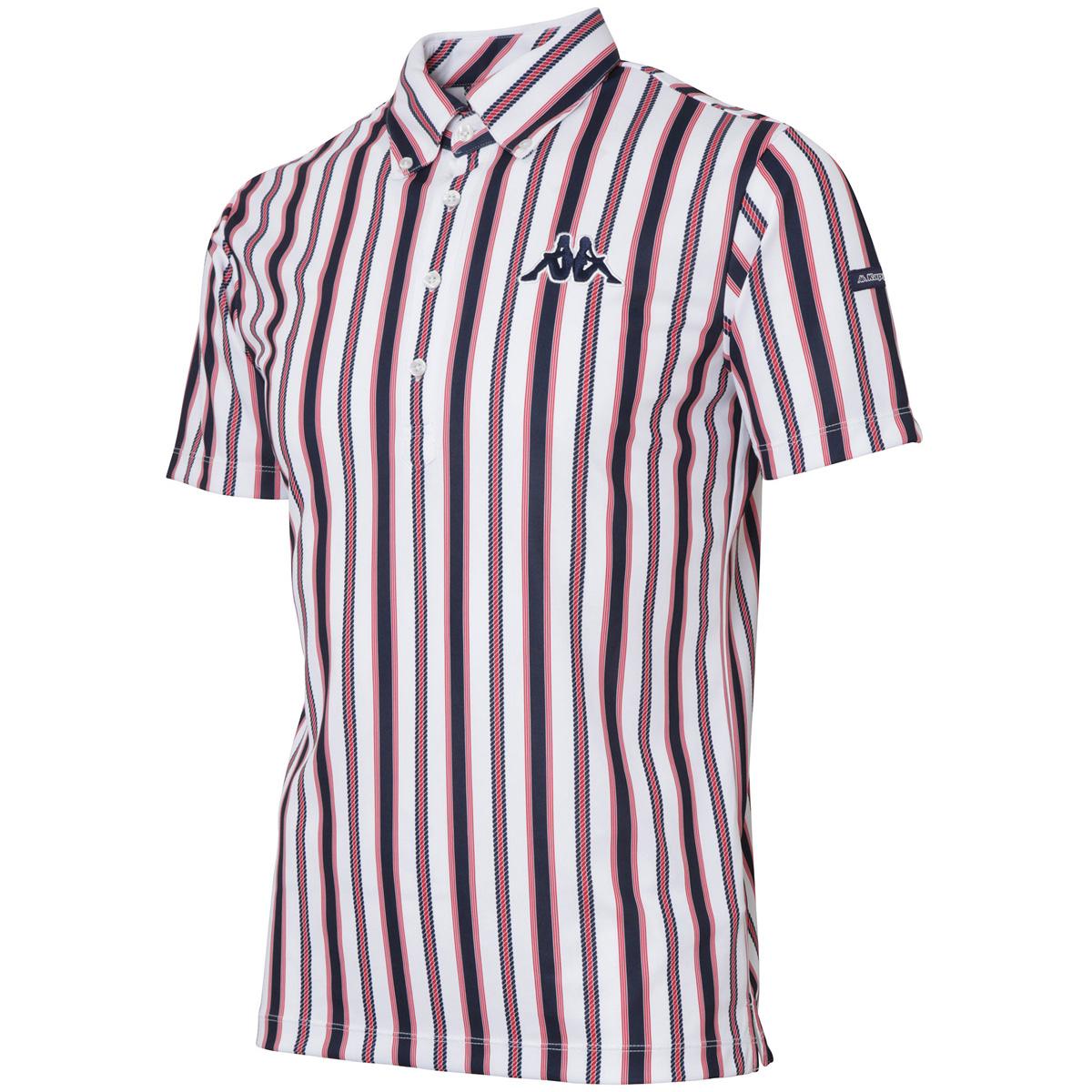 Kappa GOLF マルチストライプ半袖ポロシャツ