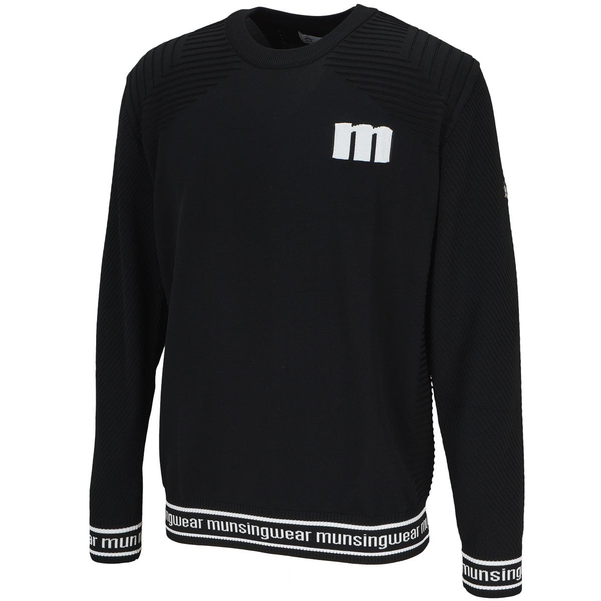 ENVOY mロゴクルーネックセーター