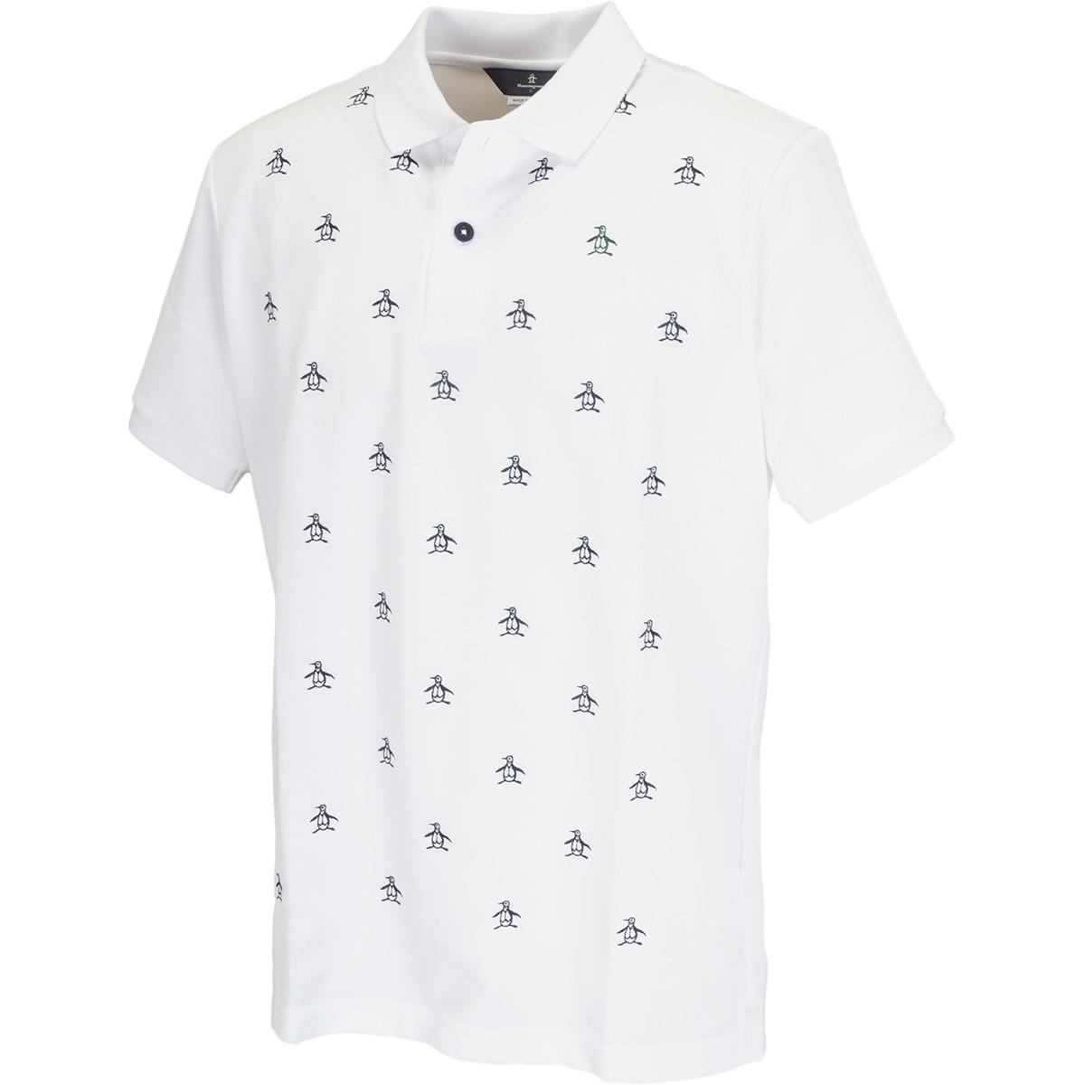 マナード裏鹿の子 ペンギン刺繍半袖ポロシャツ
