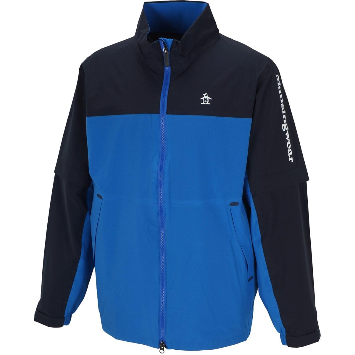 マンシングウェア Munsingwear ストレッチ 2WAY レインロゴブルゾン M ブルー/ネイビー