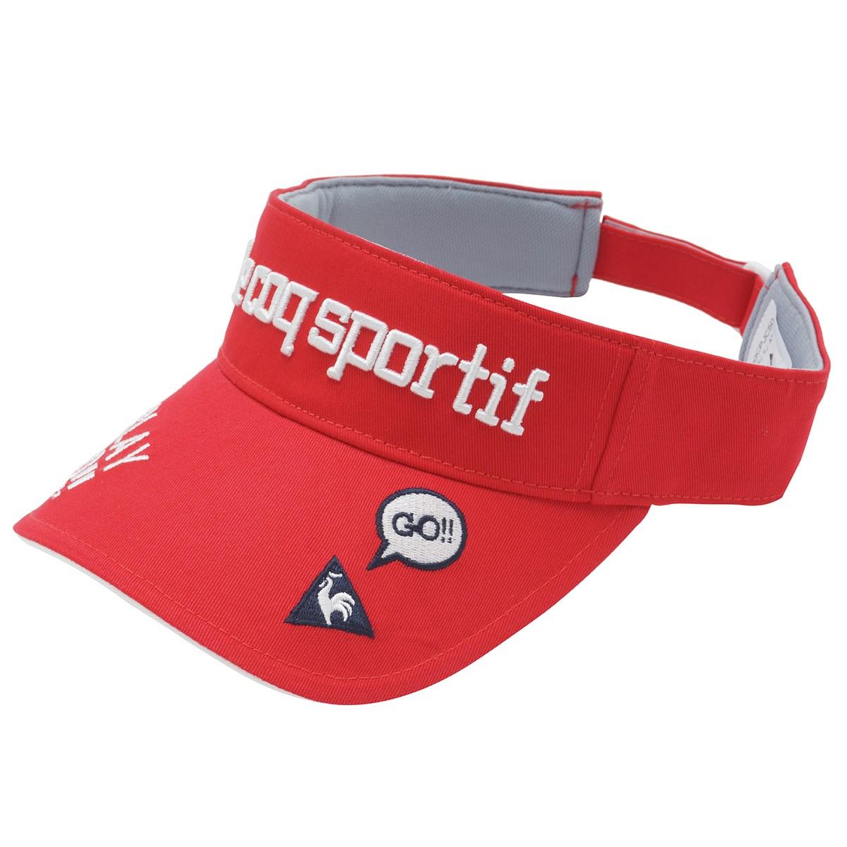 ルコックゴルフ Le coq sportif GOLF コットンツイルサンバイザー フリー レッド 00 レディス