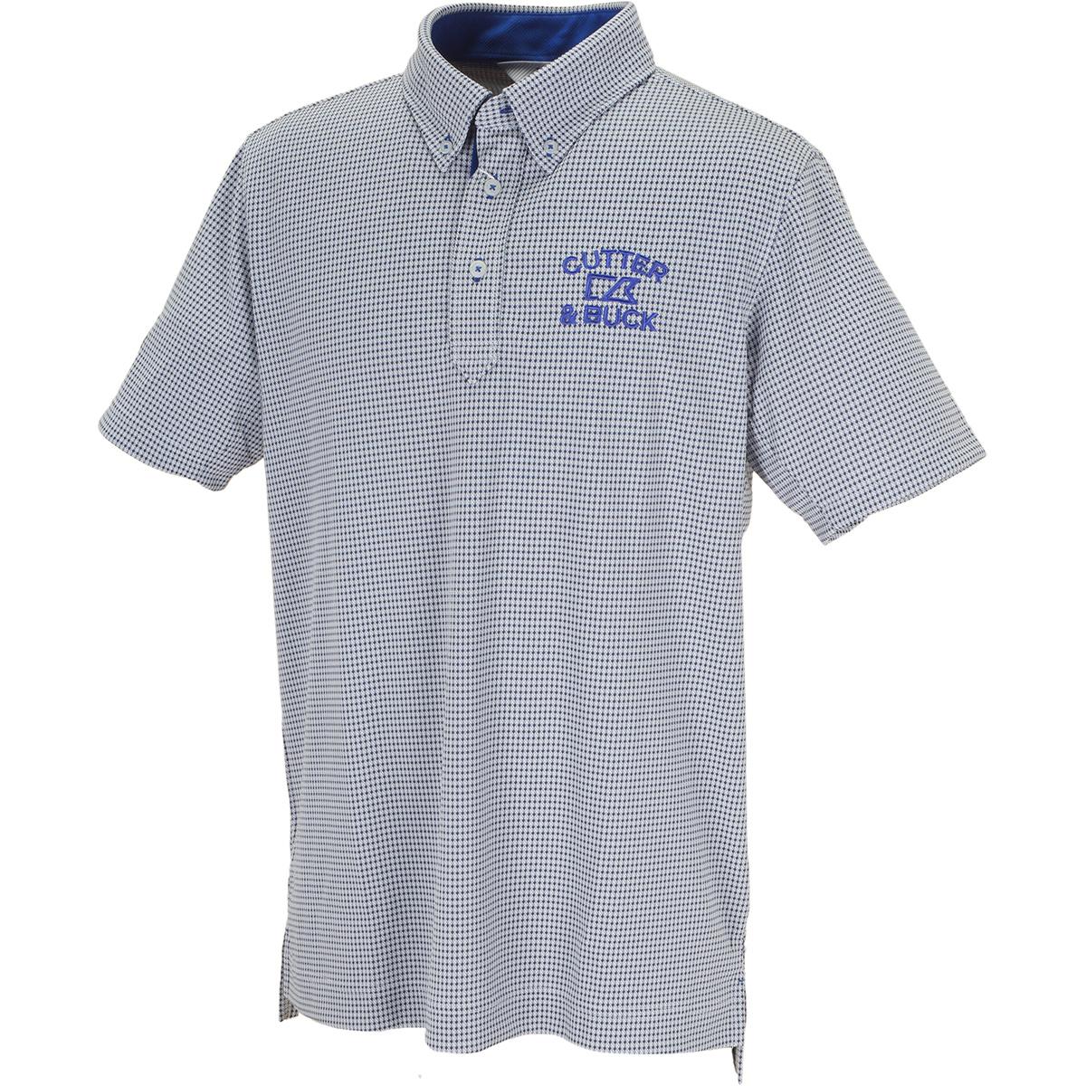 クーリストD-TECミニダイヤ ボタンダウンカラー半袖ニットポロシャツ