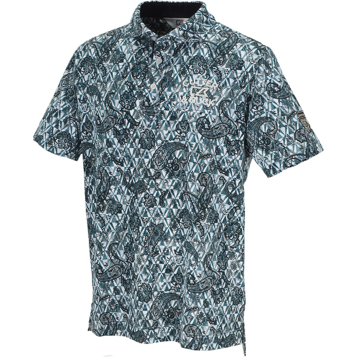 クーリストD-TECプリント ウインドカラー半袖ニットポロシャツ