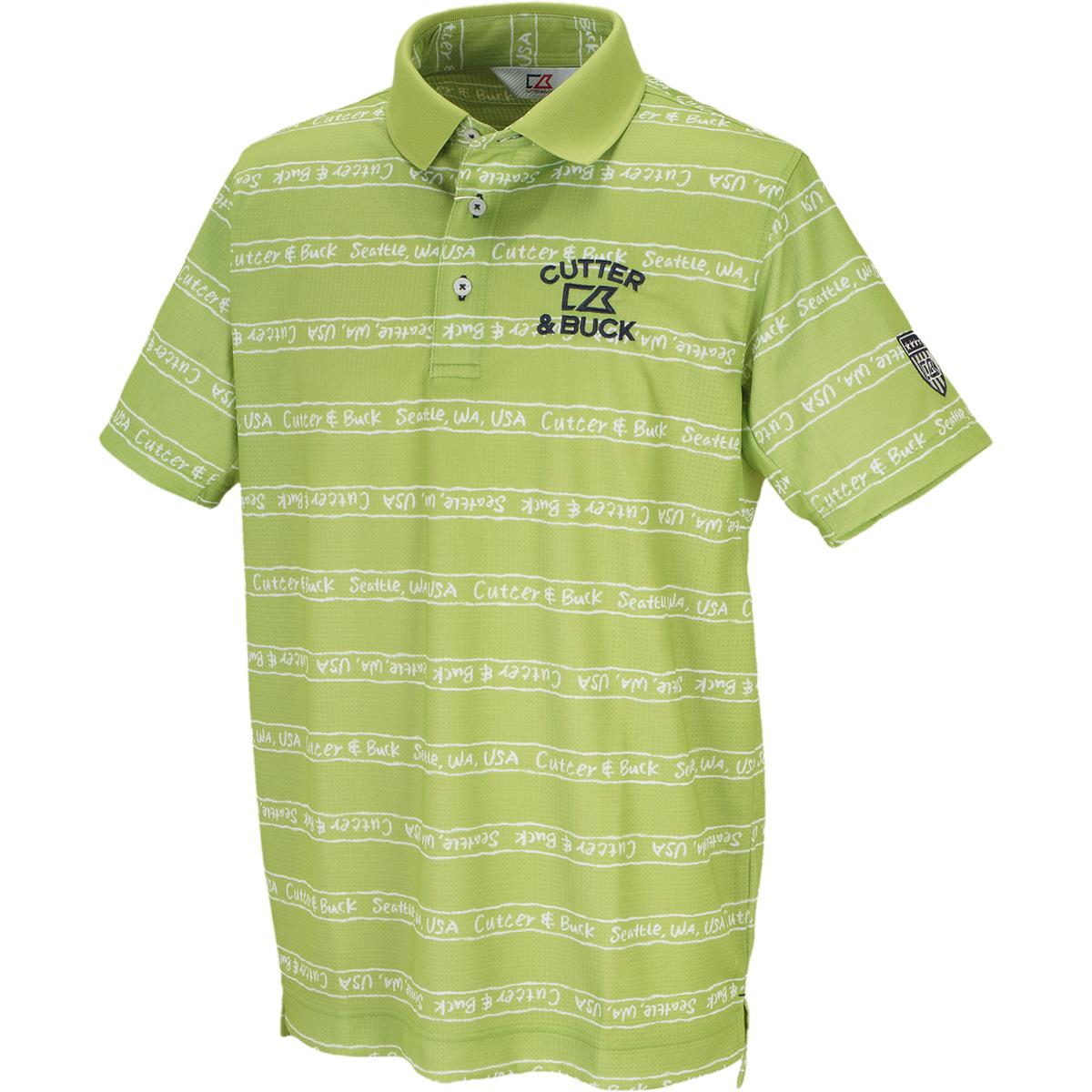 クーリストD-TECプリント半袖ニットポロシャツ