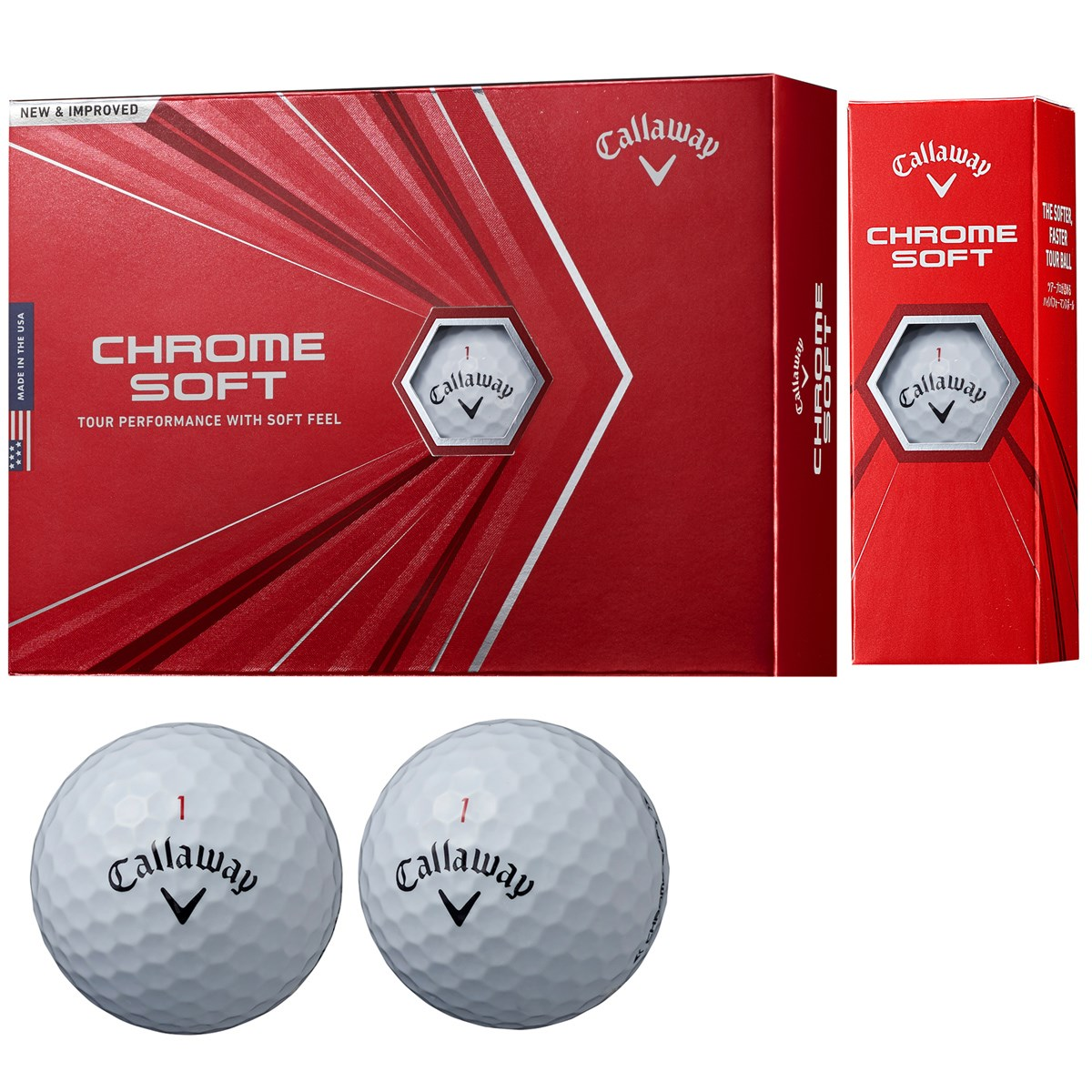 キャロウェイゴルフ CHROM SOFT CHROME SOFT ボール 1ダース(12個入り) ホワイト