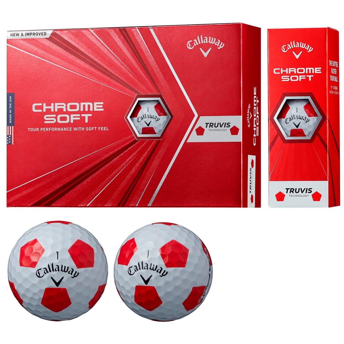 キャロウェイゴルフ CHROM SOFT CHROME SOFT ボール 1ダース(12個入り) ホワイト/レッド