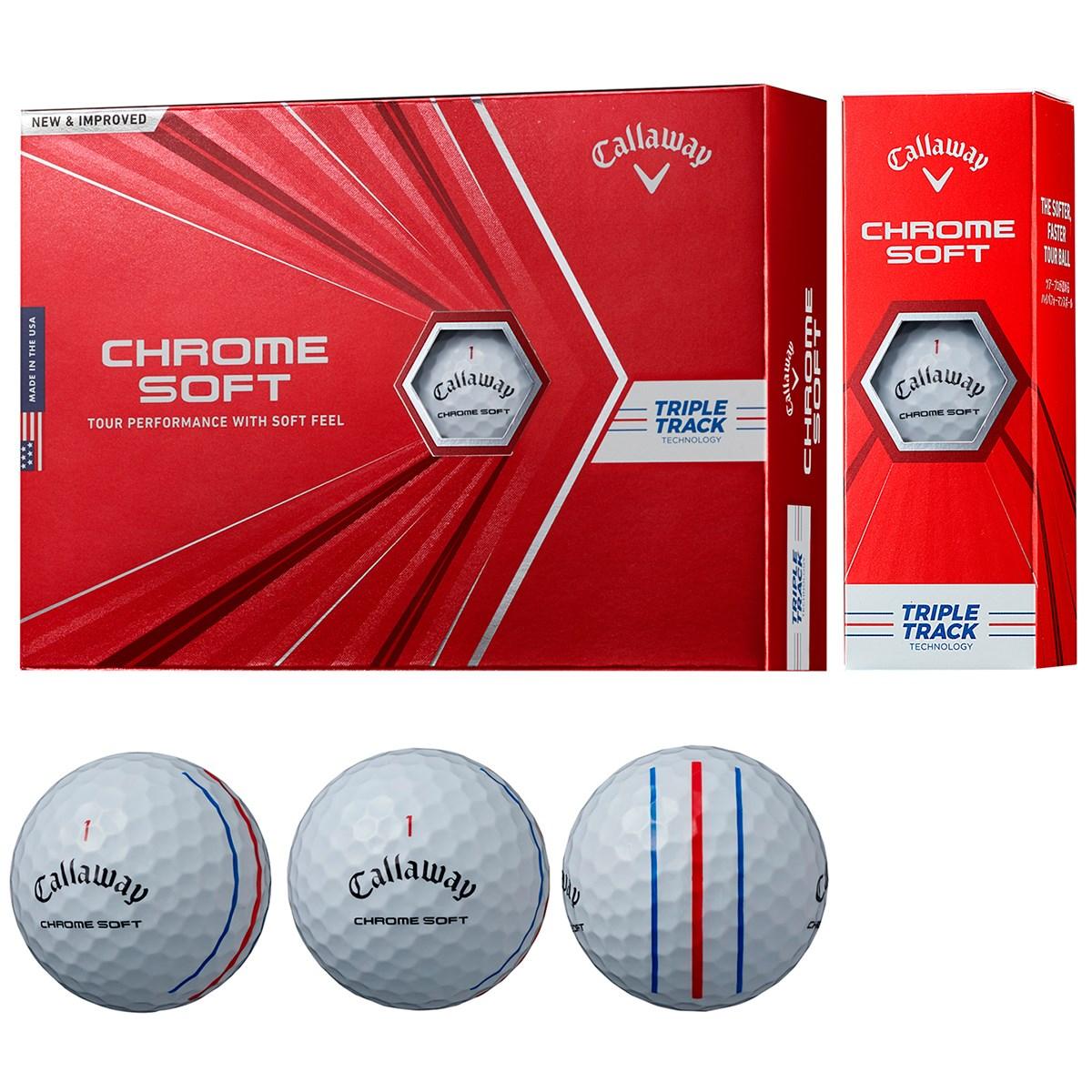 キャロウェイゴルフ CHROM SOFT CHROME SOFT ボール 1ダース(12個入り) ホワイト(トリプルトラック)