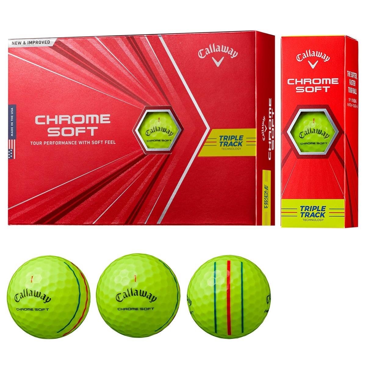 キャロウェイゴルフ CHROM SOFT CHROME SOFT ボール 1ダース(12個入り) イエロー(トリプルトラック)