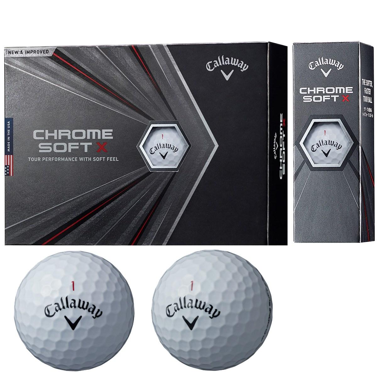 キャロウェイゴルフ CHROM SOFT CHROME SOFT X ボール 1ダース(12個入り) ホワイト