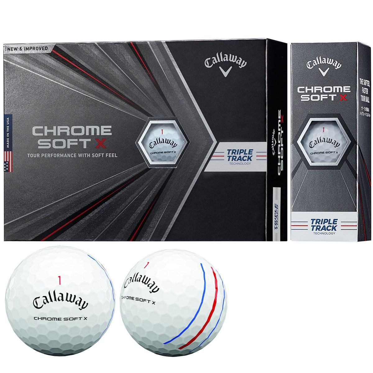 キャロウェイゴルフ CHROM SOFT CHROME SOFT X ボール 1ダース(12個入り) ホワイト(トリプルトラック)