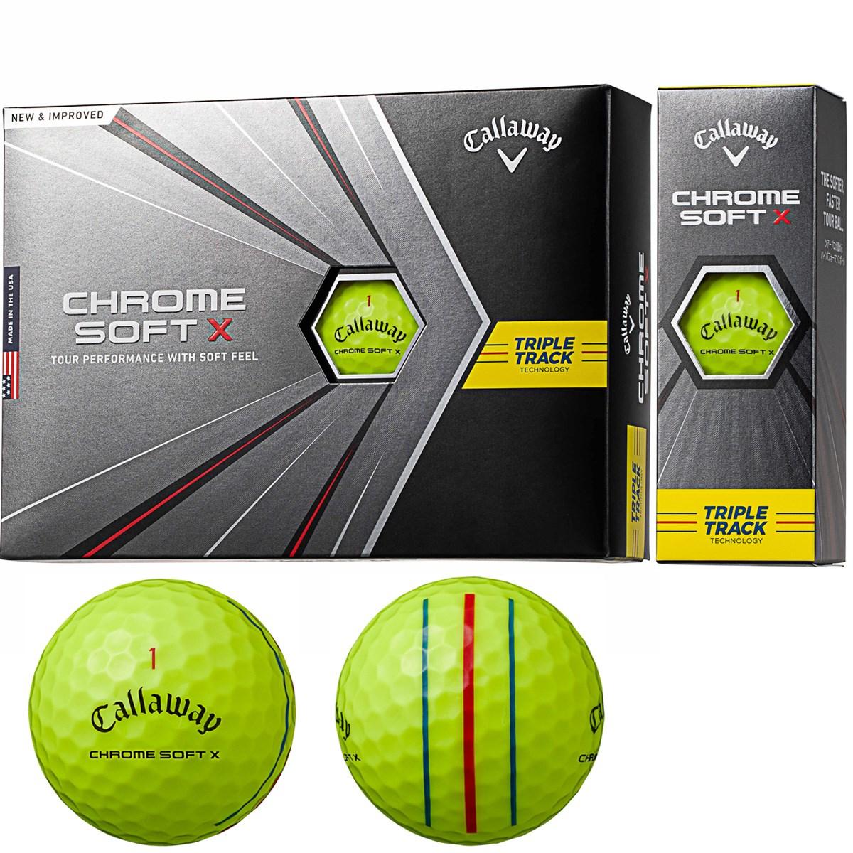 キャロウェイゴルフ CHROM SOFT CHROME SOFT X ボール 1ダース(12個入り) イエロー(トリプルトラック)