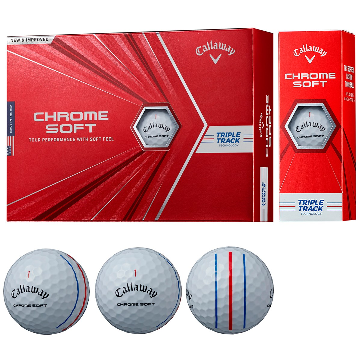 キャロウェイゴルフ CHROM SOFT CHROME SOFT ボール 3ダースセット 3ダース(36個入り) ホワイト(トリプルトラック)