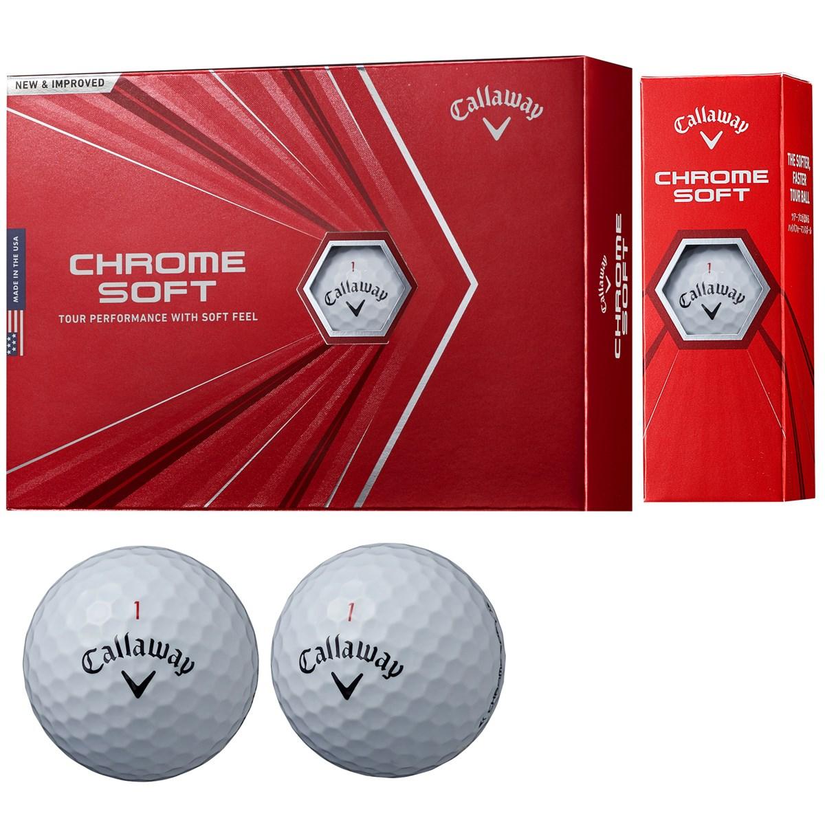 キャロウェイゴルフ CHROM SOFT CHROME SOFT ボール 5ダースセット 5ダース(60個入り) ホワイト