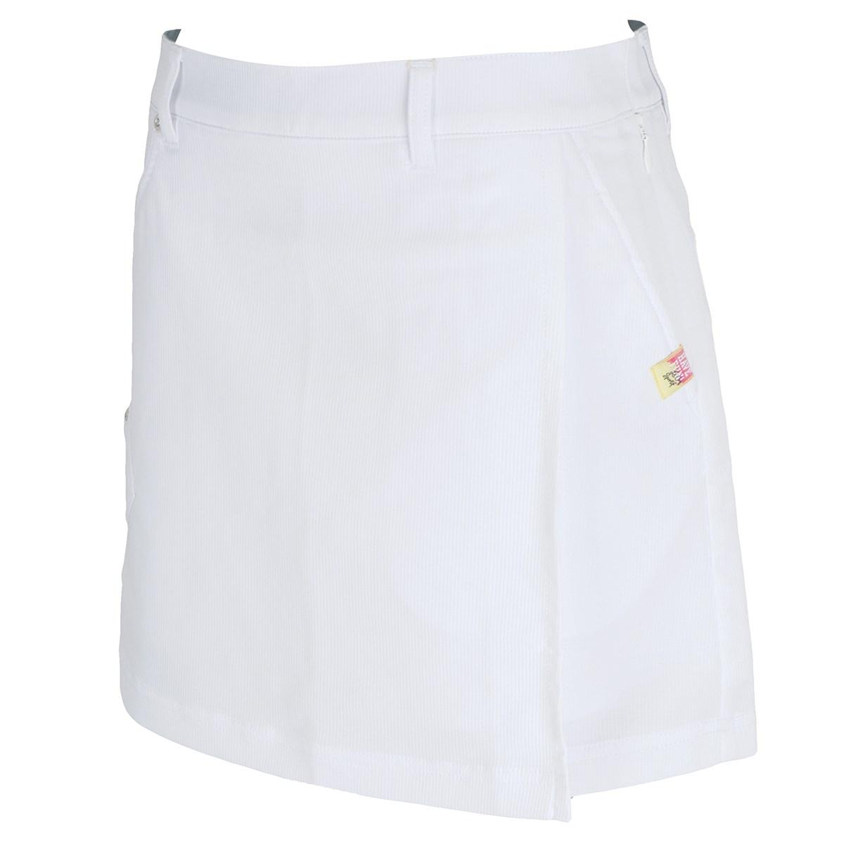 ルコックゴルフ Le coq sportif GOLF ストレッチワッフル 巻きスカート風スカート 9 ホワイト 00 レディス