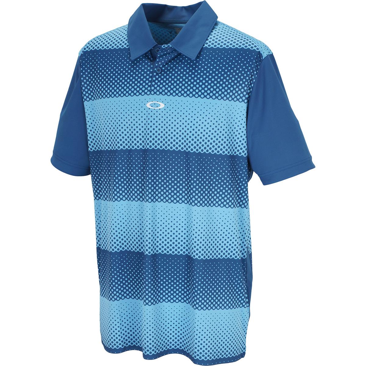 DOT STRIPES 半袖ポロシャツ