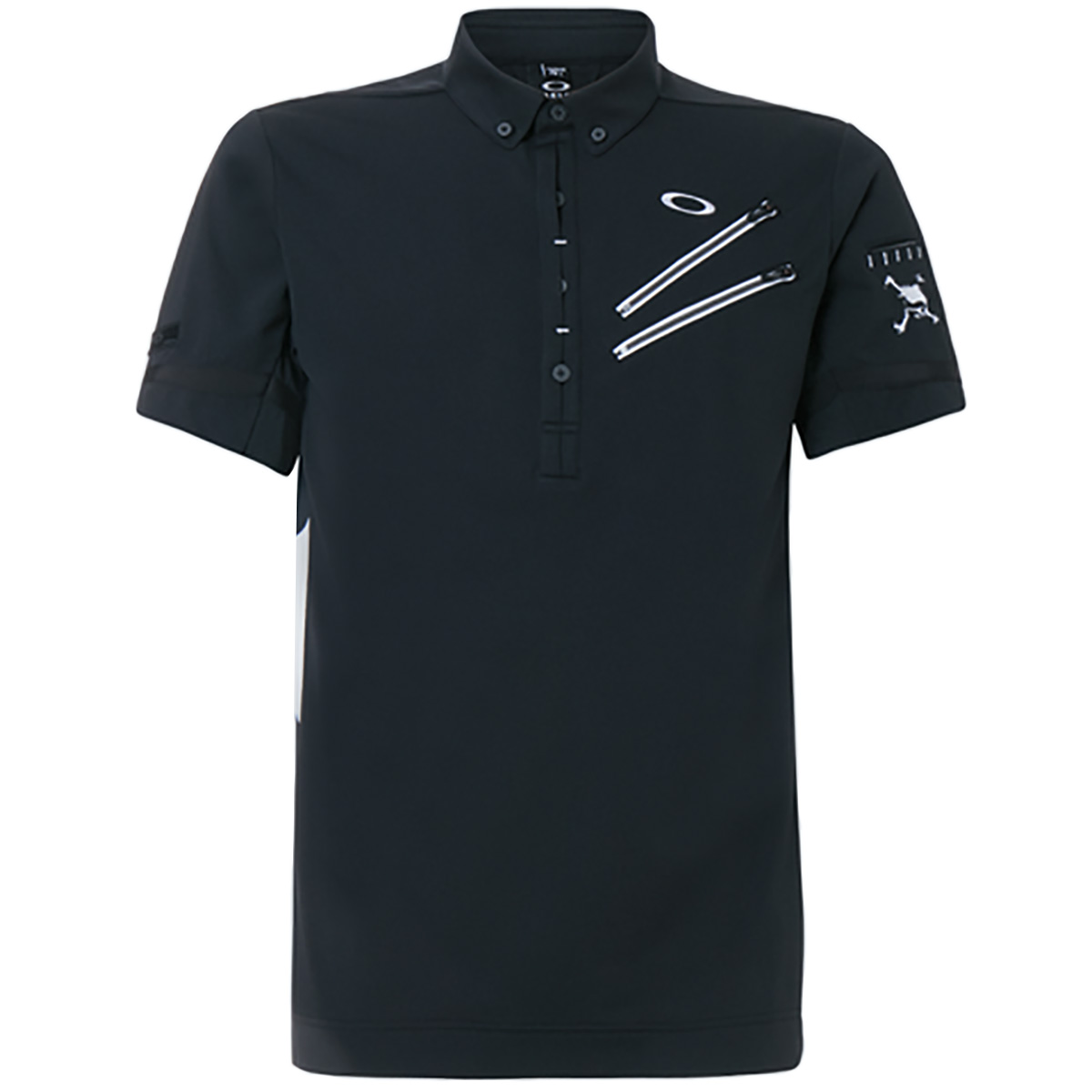 スカル Overloud グラフィック半袖ポロシャツ