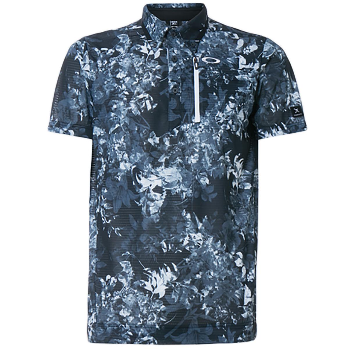 スカル Full Bloom 半袖ポロシャツ