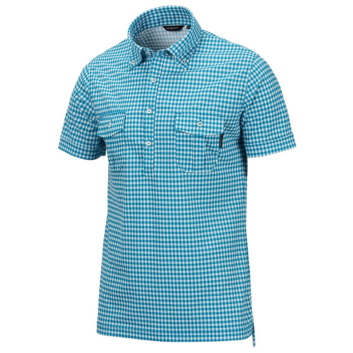 GDO オリジナル 半袖Wポケットボタンダウンシャツ