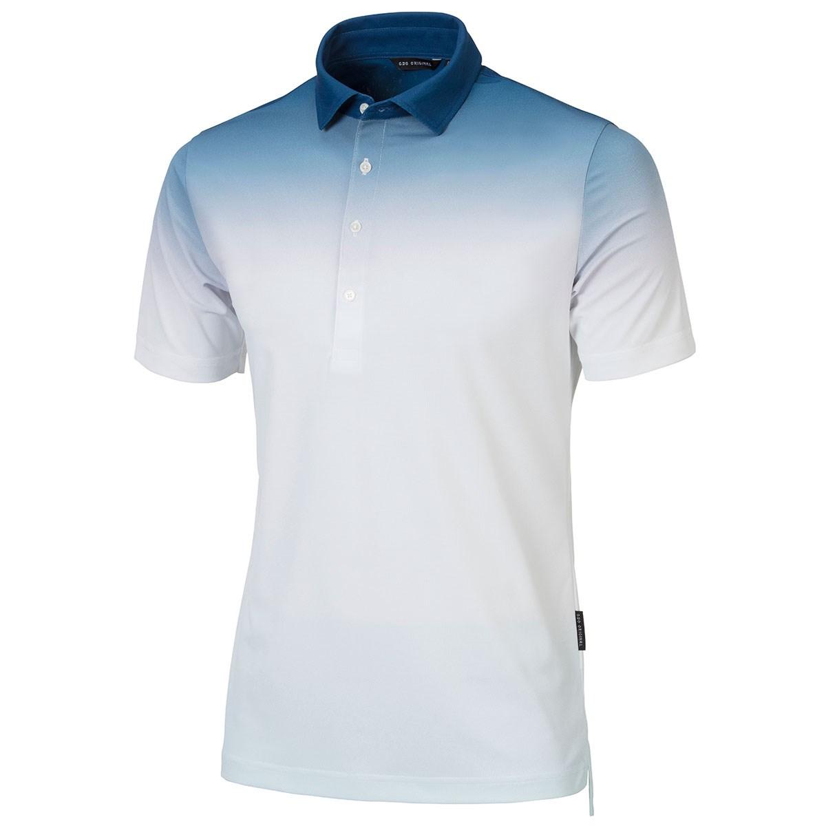 GDO オリジナル GDO ORIGINAL 半袖ゴルフシャツ L グラデーション(ネイビー)