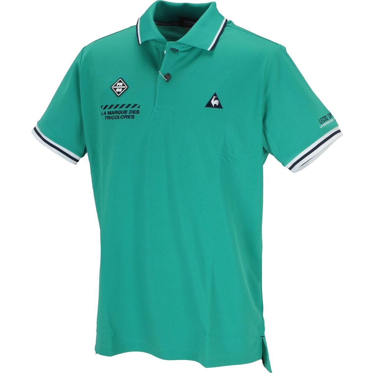 ルコックゴルフ トップ鹿の子 アイコンマーキング半袖ポロシャツ