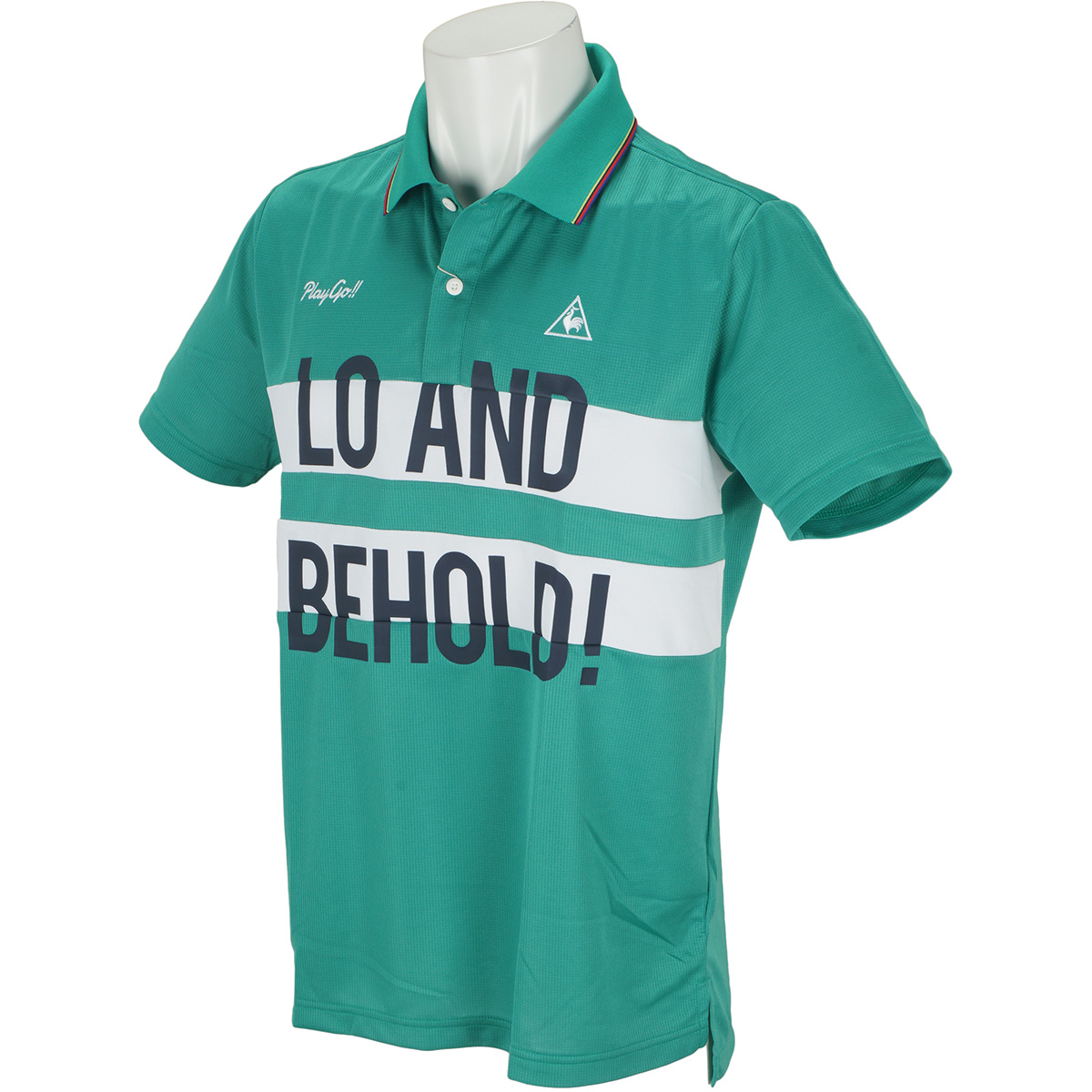 ブロック切り替え 半袖ポロシャツ
