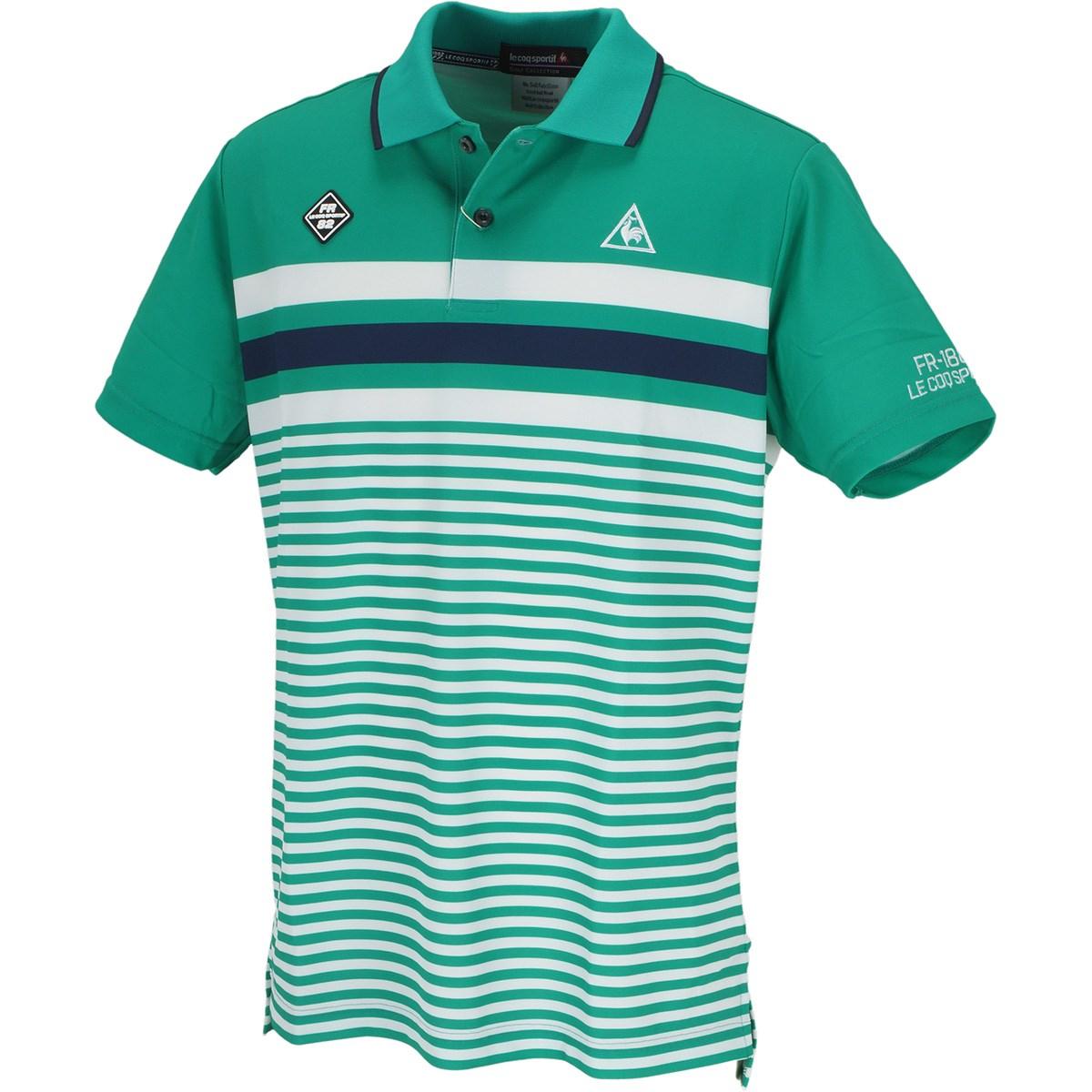 ルコックゴルフ マルチパネルボーダー 半袖ポロシャツ