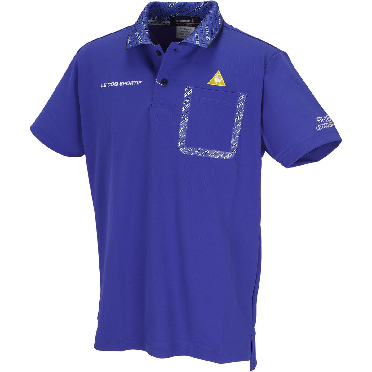 8bitロゴプリントカラー 半袖ポロシャツ