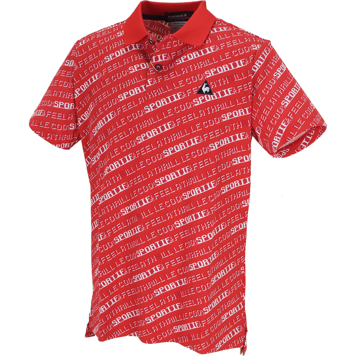 8bitロゴプリント 半袖ポロシャツ