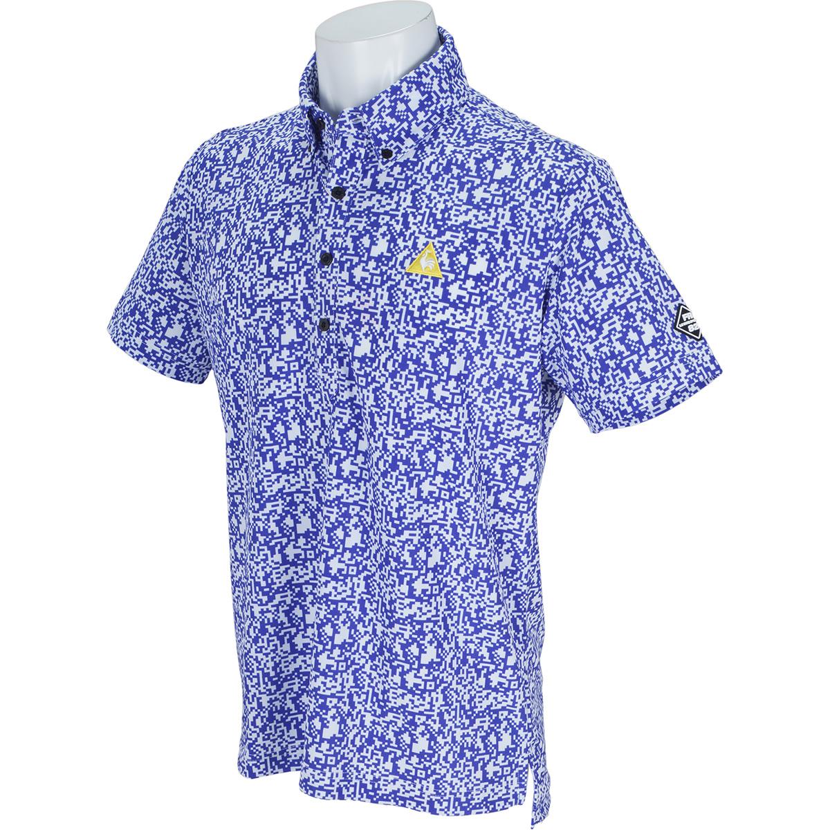 8Bitカモフラージュプリント 半袖ポロシャツ