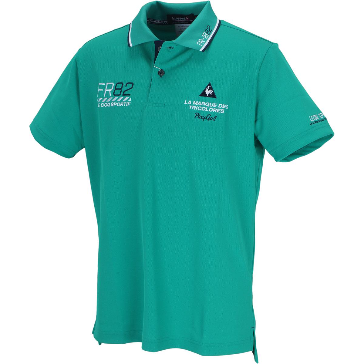 ドライ鹿の子シーズンマーキング 半袖ポロシャツ
