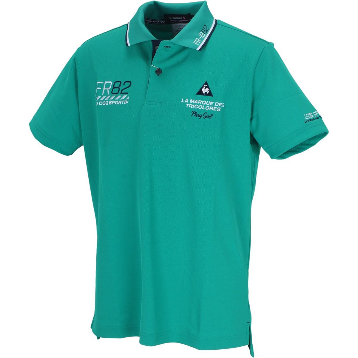 ルコックゴルフ ドライ鹿の子シーズンマーキング 半袖ポロシャツ