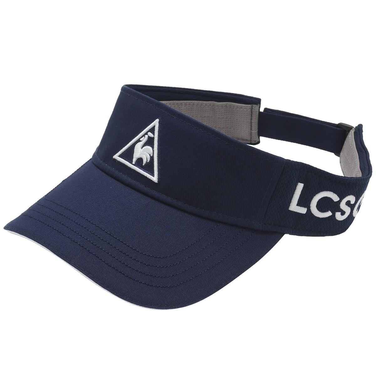 [2020年モデル] ルコックゴルフ Le coq sportif GOLF クリップマーカー付きサンバイザー ネイビー 01 メンズ ゴルフウェア 帽子