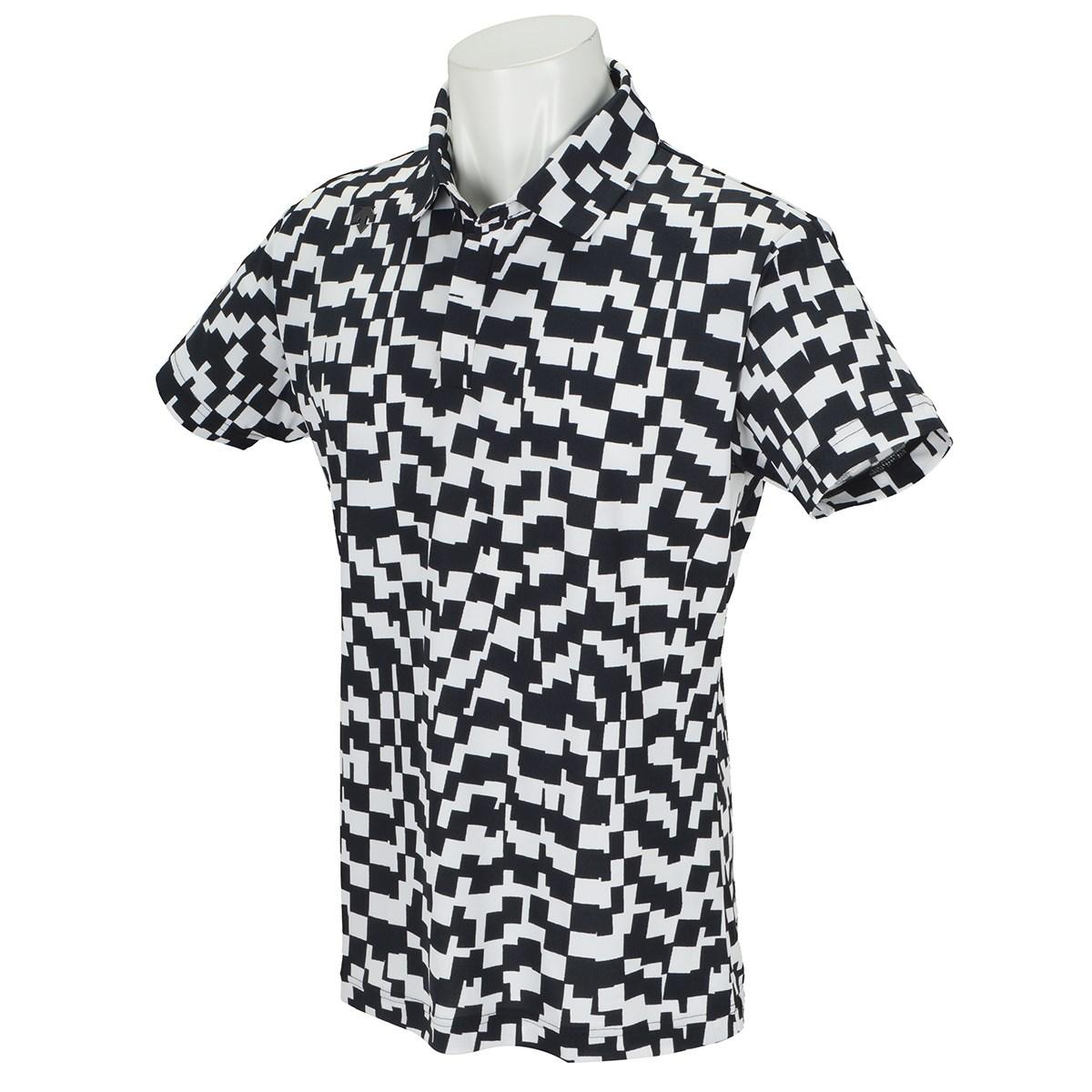 デサントゴルフ(DESCENTE GOLF) ポリエステル裏鹿の子市松プリント 半袖ポロシャツ