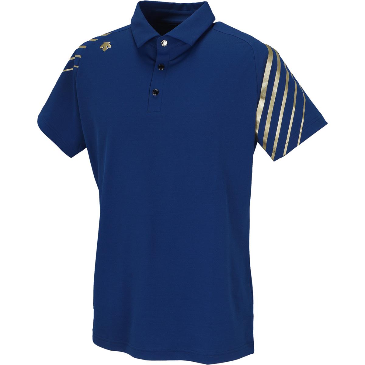 秒乾鹿の子ライジングプリント 半袖ポロシャツ