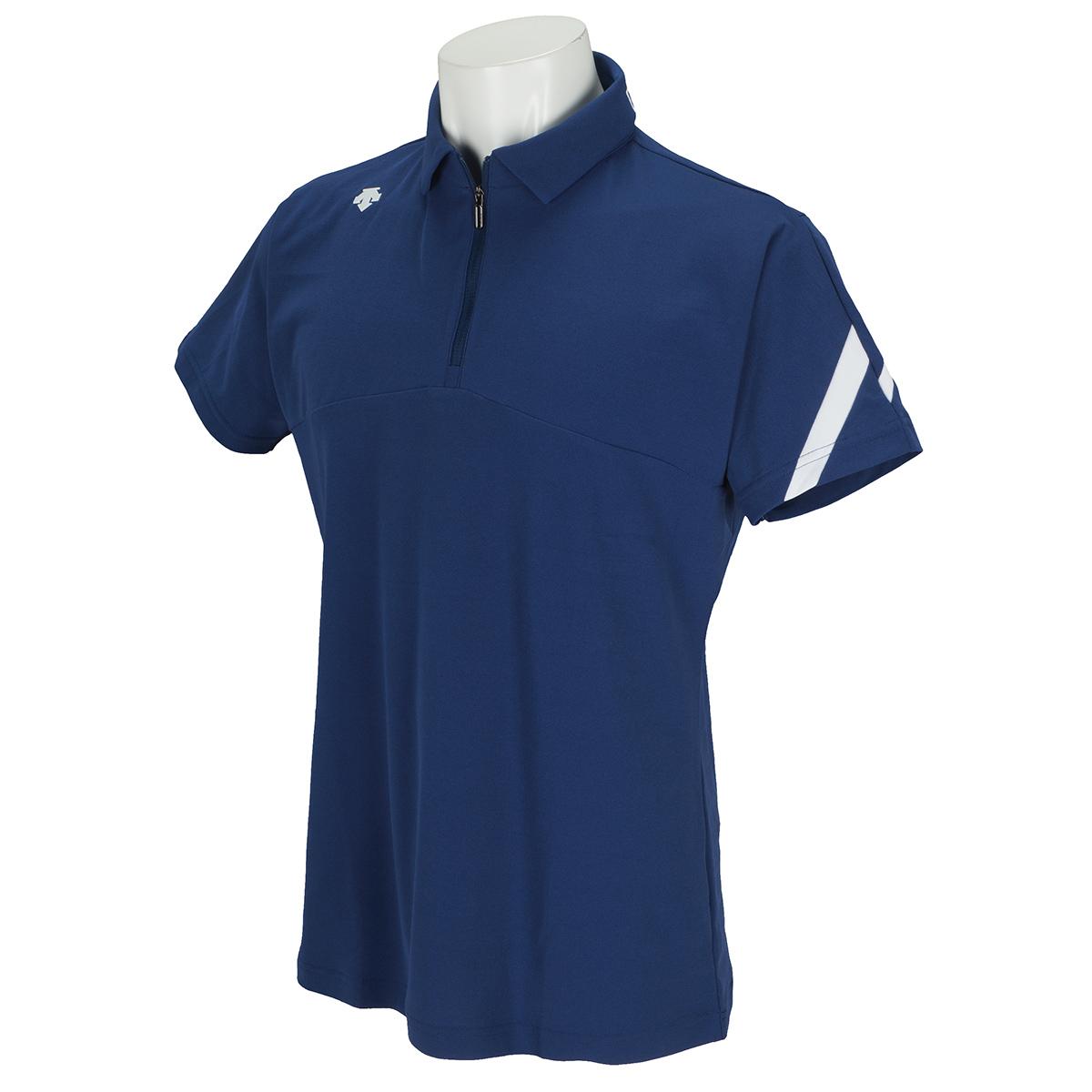 ストレッチ ソロテックス鹿の子ライジング切り替え 半袖ポロシャツ