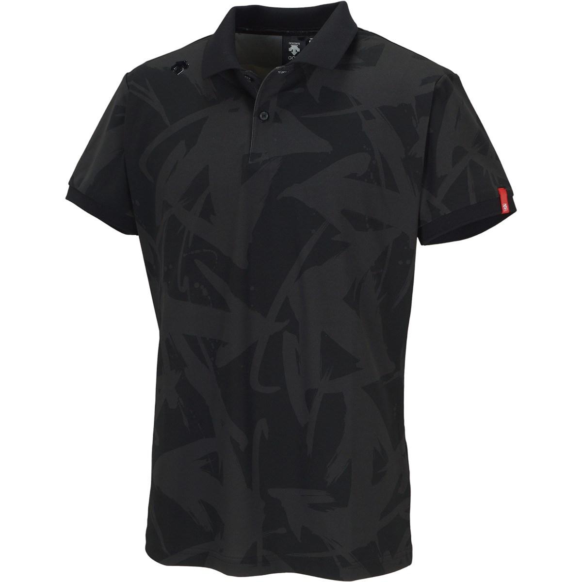 デサントゴルフ(DESCENTE GOLF) 万美collection ストレッチ ソロテックス鹿の子パネルプリント 半袖ポロシャツ