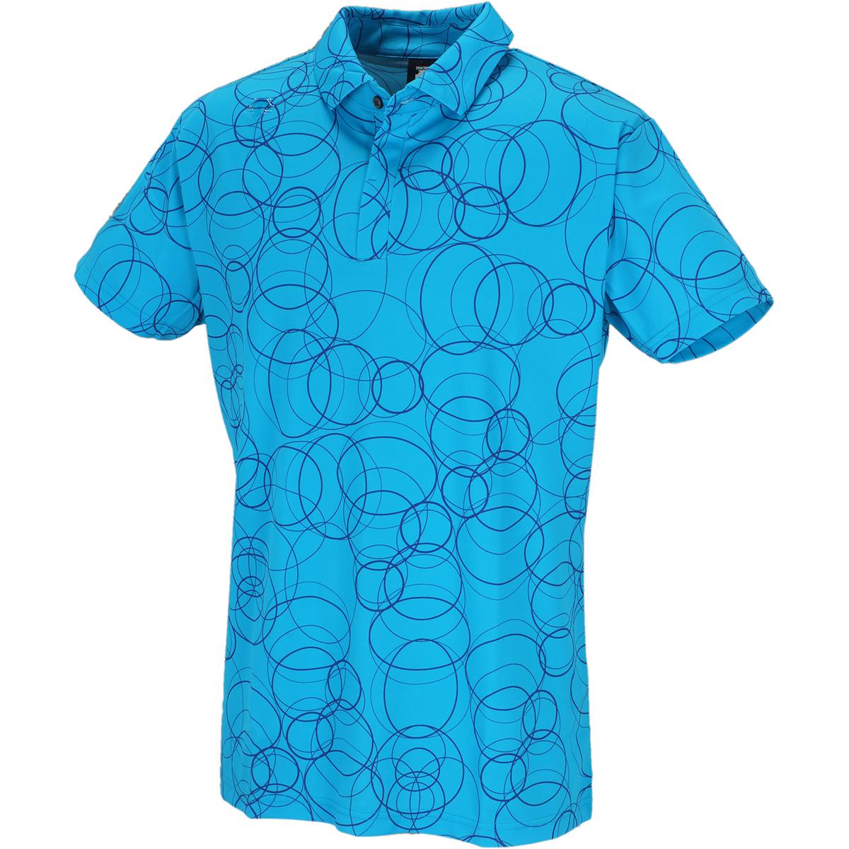 クーリスト鹿の子枯山水プリント 半袖ポロシャツ