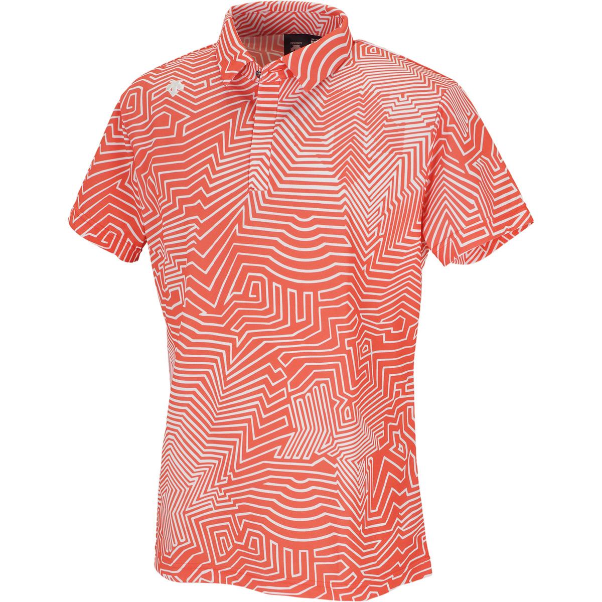 クーリストドライキューブ枯山水プリント 半袖ポロシャツ