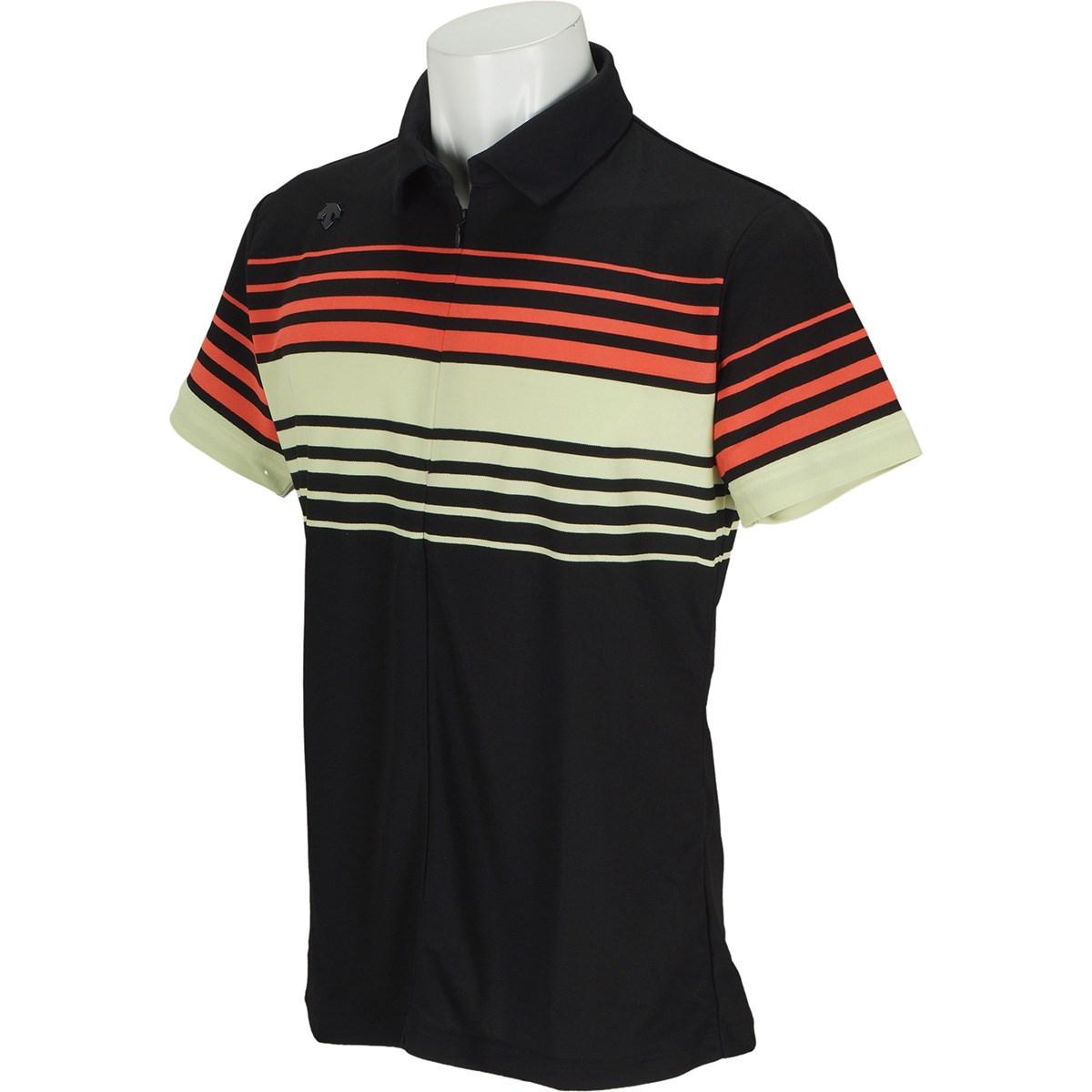 デサントゴルフ(DESCENTE GOLF) パネルボーダープリント 半袖ポロシャツ