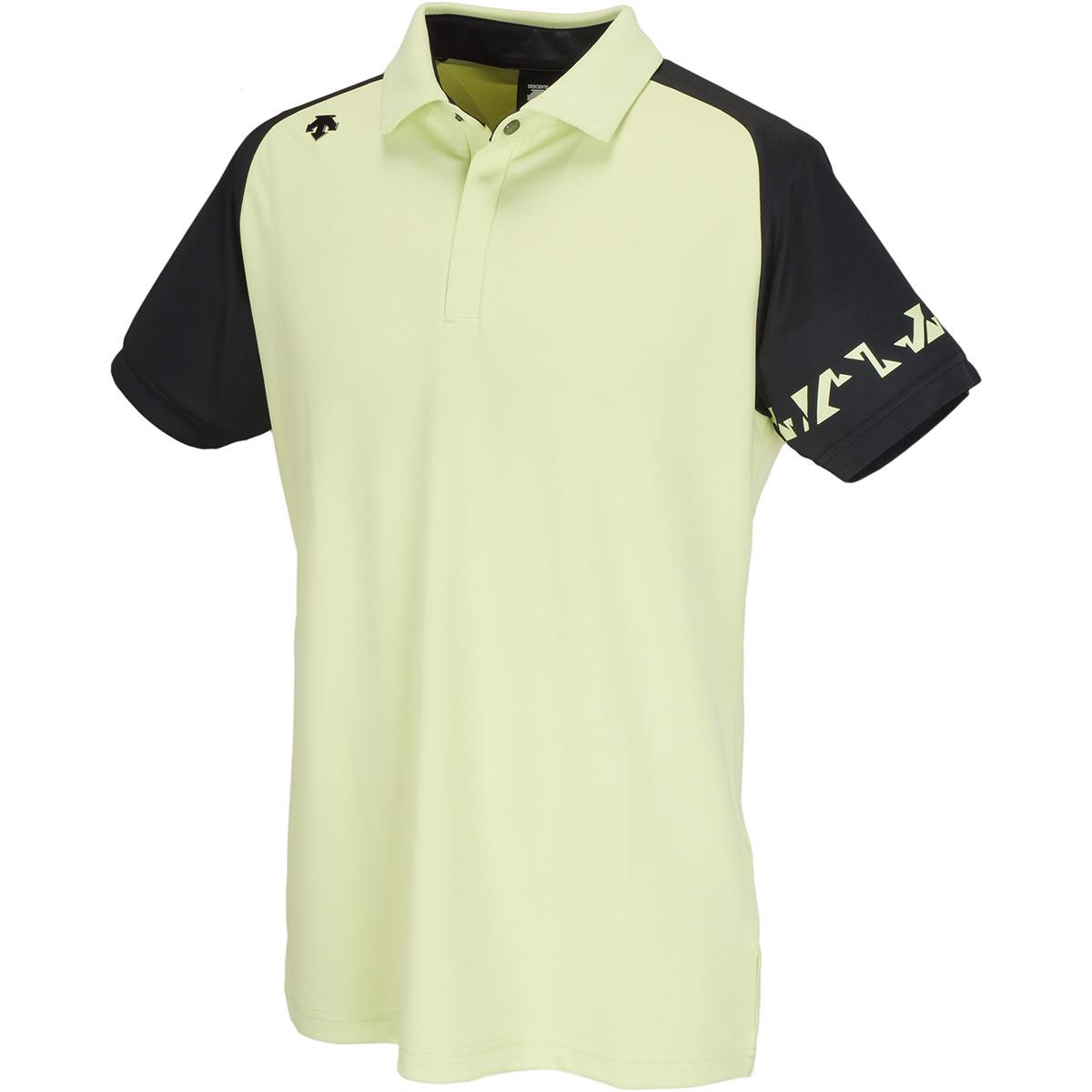 トリアセテートリバース鹿の子 半袖ポロシャツ